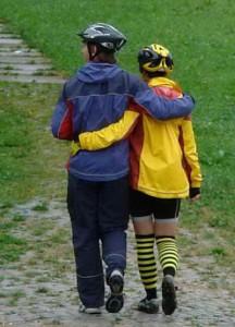 Сергей и Алена в мембранных куртках и брюках Roket