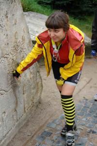 Алена в мембранной куртке Roket .
